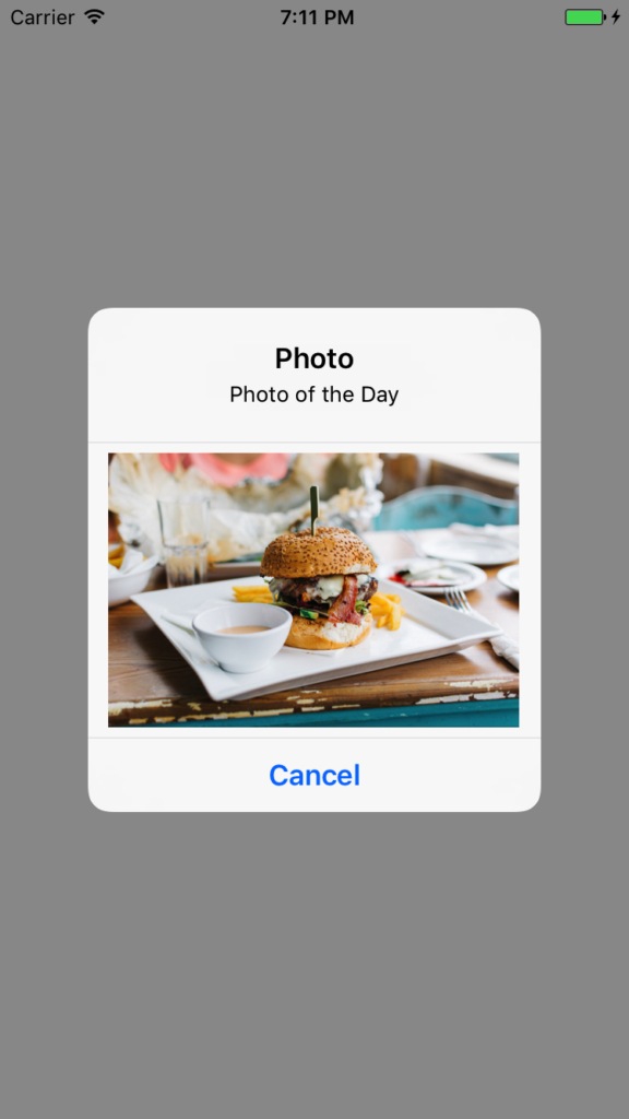 Display AlertController with Image in Swift (XCODE 8 3