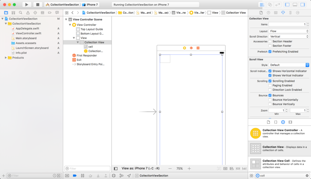UICollectionView with Section in Swift (XCODE) - Code Kayak