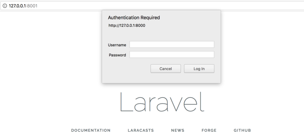 Testing Laravel Passport OAuth2 page does not work