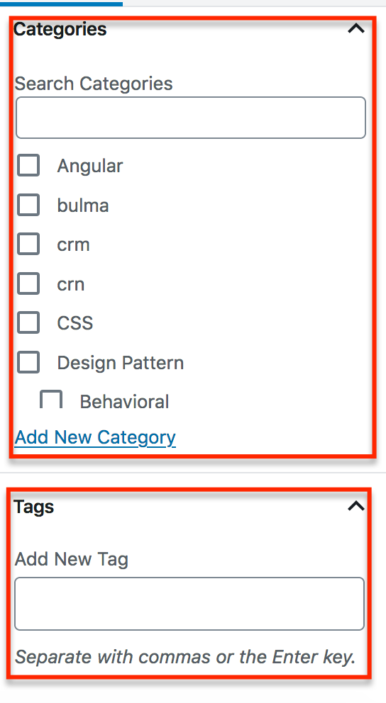Wordpress Default Taxonomy